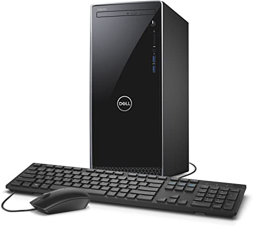 Dell Inspiron i3670 Desktop - 8th Gen Intel Core i7-8700 6-Core up to 4.60 GHz, 16GB DDR4 Memory, 1TB SATA Hard Drive, 2GB Nvidia GeForce GT 1030, DVD Burner, Windows 10 Pro