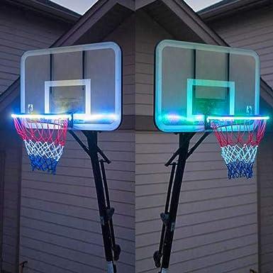 feiliandajj tira LED, 1.6 m LED Baloncesto borde iluminado Hoop ...