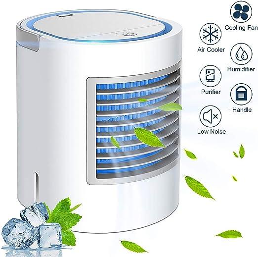 Enfriador de Aire Portátil Mini Aire Acondicionado USB Ventilador ...