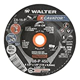 Walter 08P450 XCAVATOR Grinding Wheel - [Pack of 20] A-16-P Grit, 4-1/2 in. Surface Finishing Wheel. Abrasive Tools and Accessories