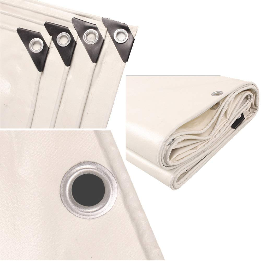 2x2M FH Sun Protection Tarpaulin, Rainproof Cloth, Thick Weiß Weiß