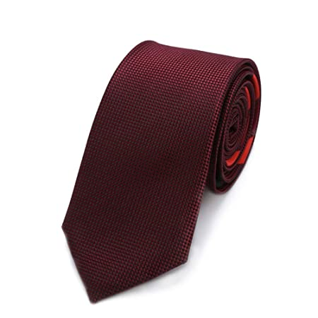 YYB-Tie Corbata Moda Vino Rojo Poliéster Textil Hombres Corbatas ...