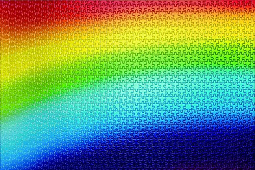 1000 piece jigsaw puzzle Rainbow Gradation I (50x75cm) (Rainbow Jigsaw)