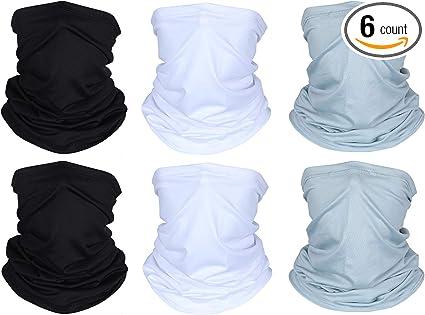 3 Pieces Mens Neck Gaiter Summer Winter Sunscreen Neck Gaiter Lightweight Face Mask for Outdoor Activities