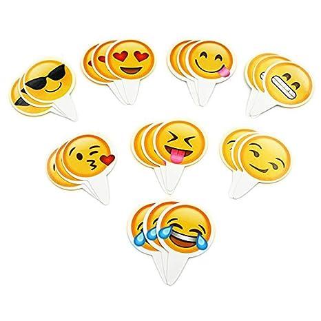Fortunings JDS 12 Piezas Caras Divertidas de Emoji Tarjetas ...