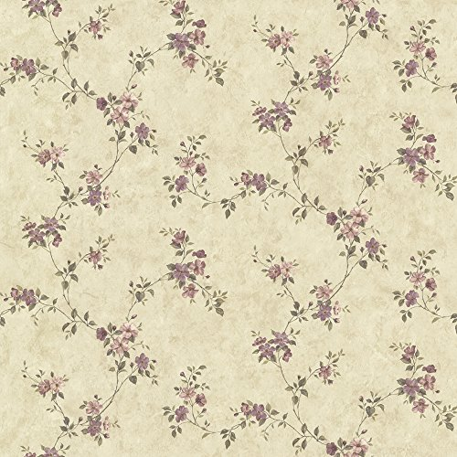 Chesapeake CTR64194 Rose Valley Violet Floral Trail Wallpaper