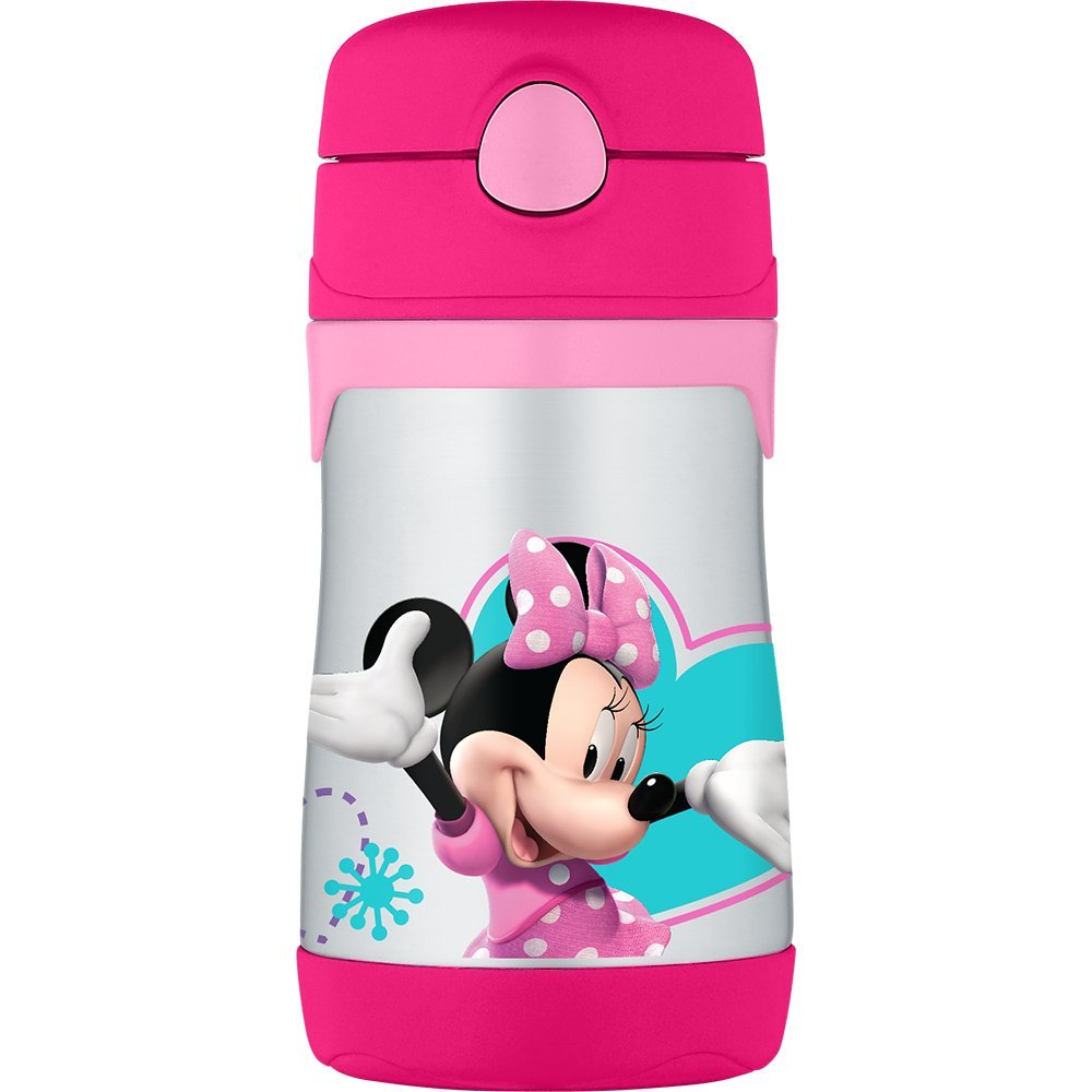 THERMOS Vacuum Insulated Stainless Steel 10-Ounce Straw Bottle, Hello Kitty BS5353HKG3