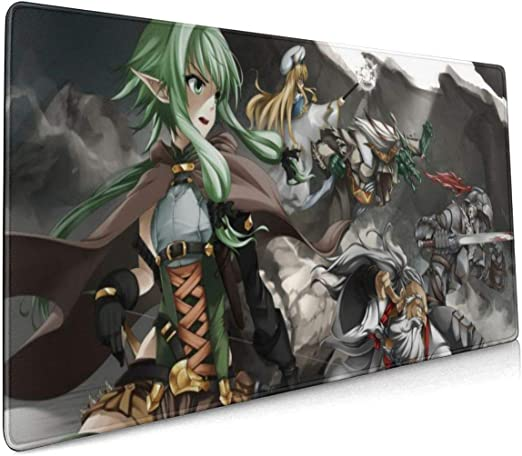 Anime Goblin Slayer Thicken Large Mouse Pad Game Play Mat Keyboard Pad Mat Gift