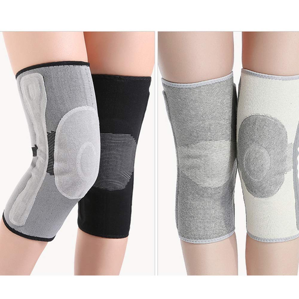 TY BEI Kneepad Kneepad Men and Women Warm Knee Joints Plus Velvet Thickening Self-Heating Knee Pads - 5 Sizes Optional @@ (Color : Gray, Size : S) by TY BEI (Image #2)