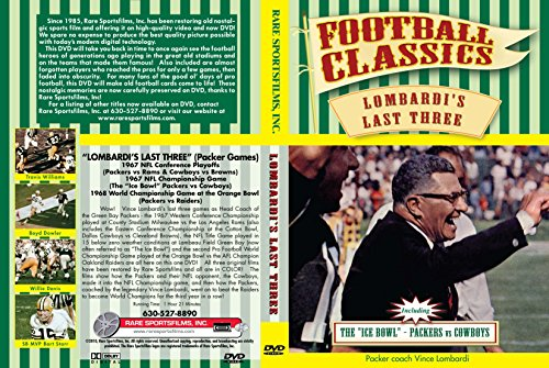 """""""LOMBARDI'S LAST THREE"""" (Packer Games) 1967 NFL Conference Playoffs (vs Rams) 1967 NFL Championship Game (The """"Ice Bowl"""" vs Cowboys) 1967 World Championship Game (vs Raiders) - Nfl Playoff Games"""