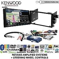 Volunteer Audio Kenwood Excelon DNX994S Double Din Radio Install Kit with GPS Navigation Apple CarPlay Android Auto Fits 2003-2005 Chevrolet Blazer, 2003-2006 Silverado, Suburban