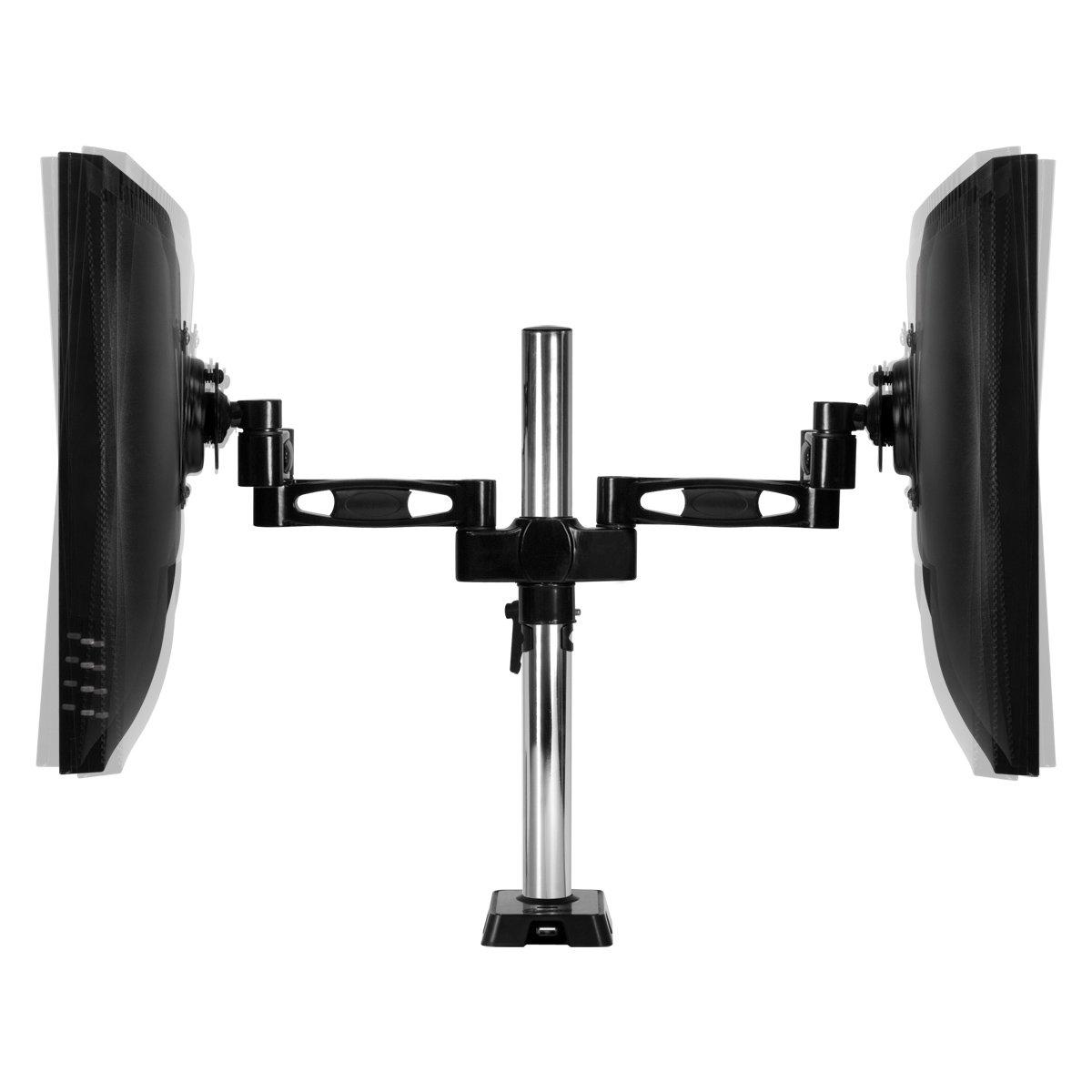 Logitech 980 000012 s120 2 piece black desktop computer speaker set - Arctic Z 2 Dual 3 Stage Monitor Arm Vesa 75 100 Compliant 4 Port Usb Data Hub Black Amazon Ca Computers Tablets