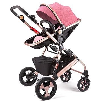 Qiangzi Carrito bebé Niño El cochecito de bebé puede sentarse puede mentir abajo de doblez doblar cuatro ruedas de alto paisaje bebé niños ...