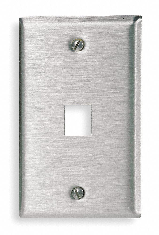 Gray Wall Plate, Stainless Steel, Number of Gangs: 1