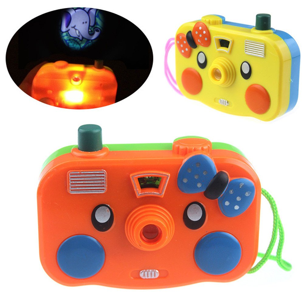 Gbell Projection Camera Toy, Simulation Digital Camera Children Educational Gift Toys for Toddlers Baby Boys Girls 0-3 Year Old