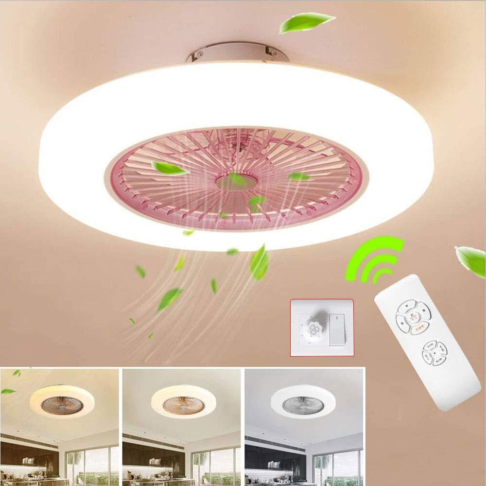 SJUN Ventilatori da soffitto con lampada LED Fan Plafoniera Ventilatore Invisibile Creativo 3 velocit/à con Telecomando Dimmerabile Decorazione dinterni illuminazione Classe di efficienza energetica