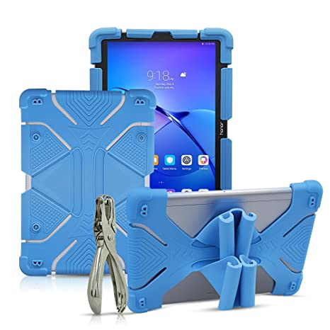 CHINFAI 8.9~10.1 inch Tablet Case, 2nd Gen Universal Silicone Protective Stand Cover for New iPad 2018, Samsung Galaxy Tab S2/S3 9.7 inch, Kindle Fire ...