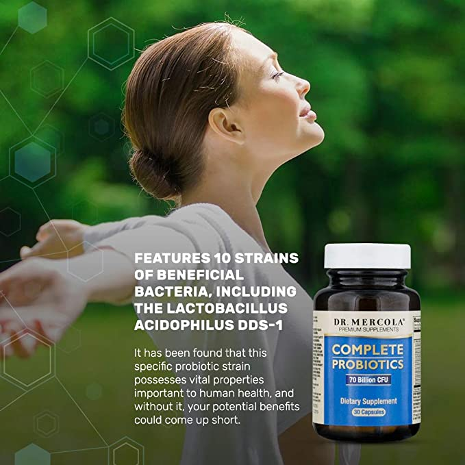 Dr Mercola Complete Probiotics (60 Capsules): Amazon.es: Salud y cuidado personal
