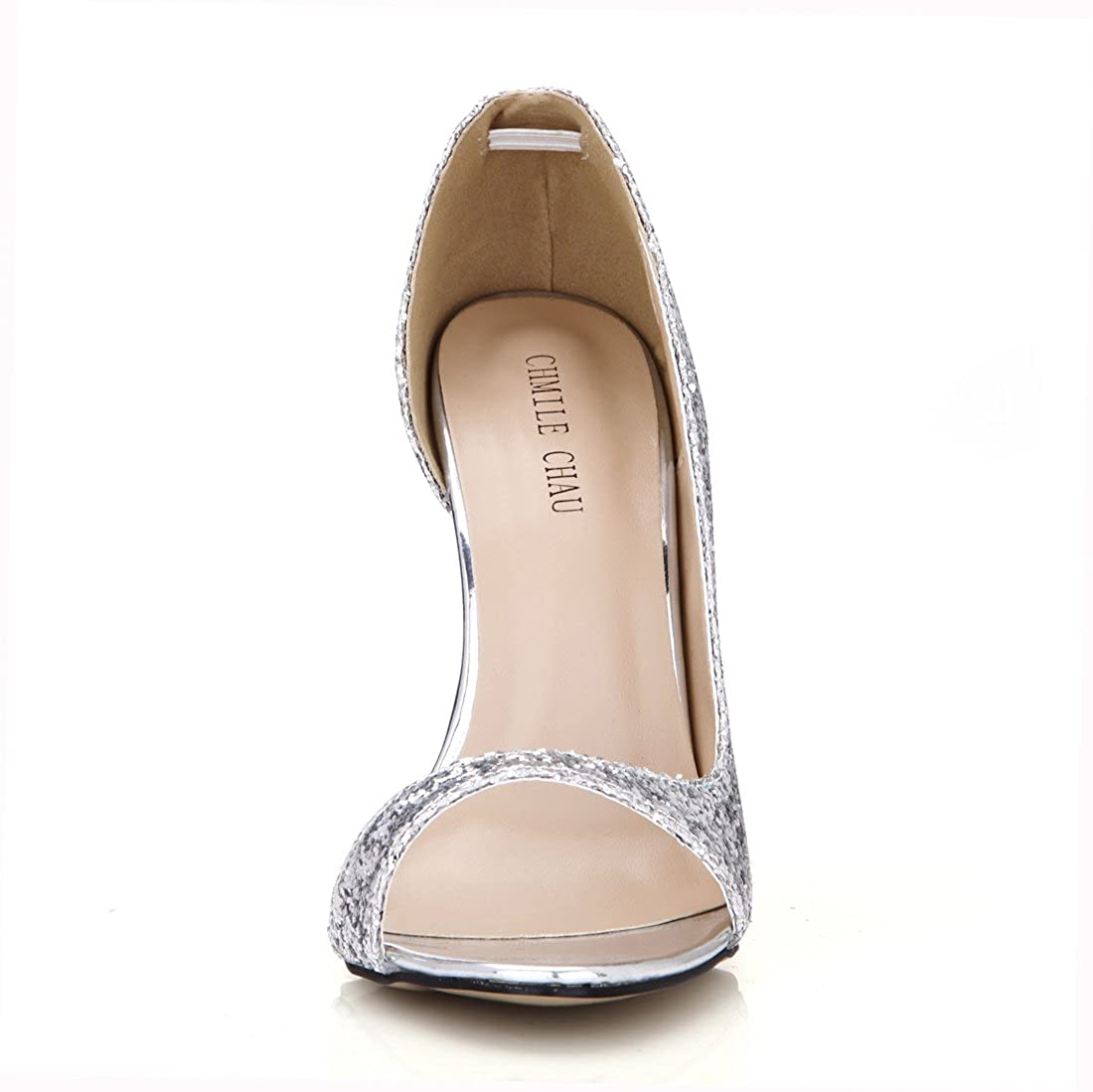 58ad1e56f67f Amazon.com | CHMILE CHAU Women Dress Pumps Sexy Stiletto High Heels Peep Toe  Size Open Ladies Shoes | Pumps