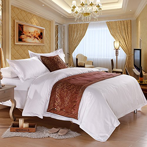 A five-star hotel bed/Hotel bed scarf/ bed foot mat/bed runner/bed cover/decorative strip/ table runner/covering cloth/tea table runner / table cloth-H 50x240cm(20x94inch) (Bed Scarves)