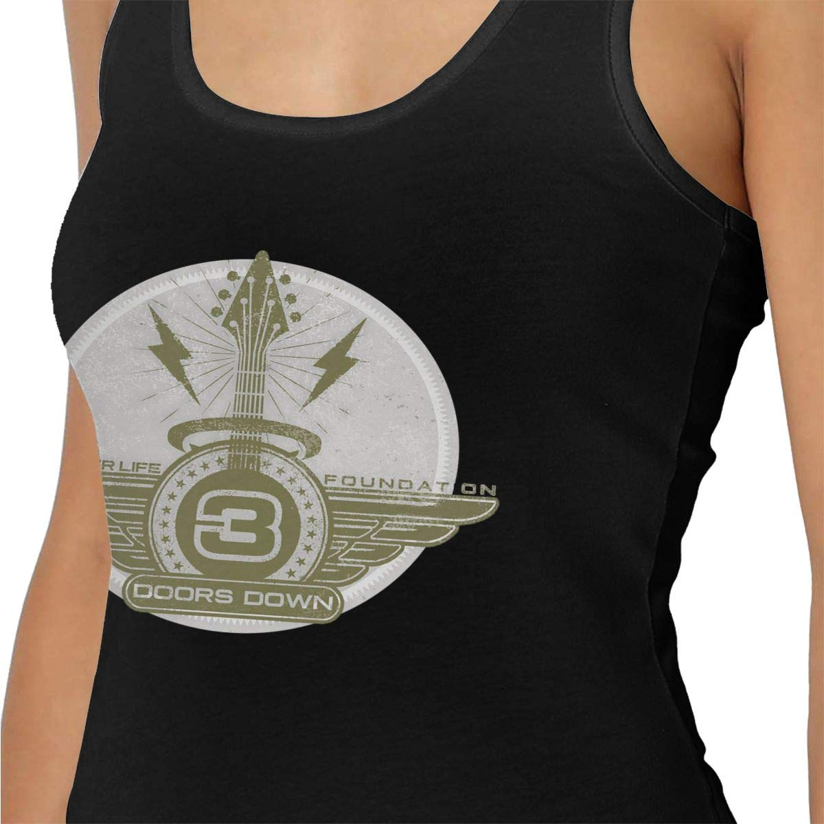 3 Doors Down Tank Tops for Women Yoga Tops Activewear Workout Clothes