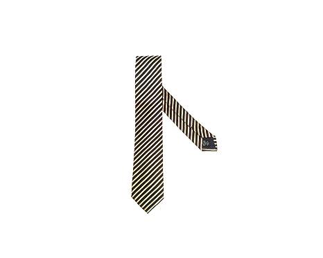 ben noto prezzo ragionevole selezione migliore ERMENEGILDO ZEGNA Cravatta a Righe Nero/Giallo: Amazon.it ...