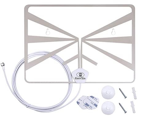 Digital HDTV Antenna By GEERXIN,1080P High Definition Flat Transparent Indoor TV Antenna For Digital