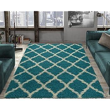 9d777290b661a3 Ottomanson shag Collection Area Rug, 5'3