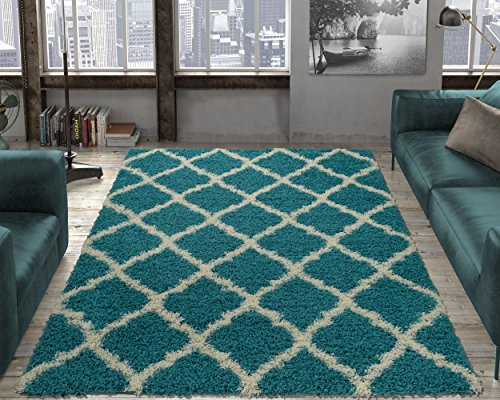 - Ottomanson shag Collection Area Rug, 5'3