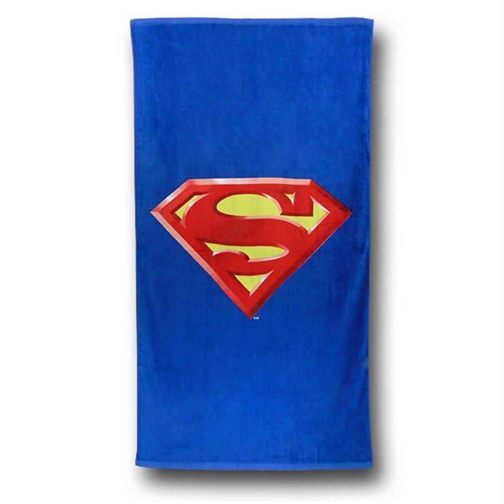 Superman Shield Beach Towel