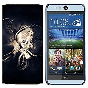TECHCASE---Cubierta de la caja de protección para la piel dura ** HTC Desire Eye ( M910x ) ** --Diseño Líneas abstractas