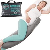 2 in 1 Pregnancy Pillow, Aussie Chiro Designed Maternity Pillows with Pregnancy Wedge to Support Belly & Pregnancy Body…