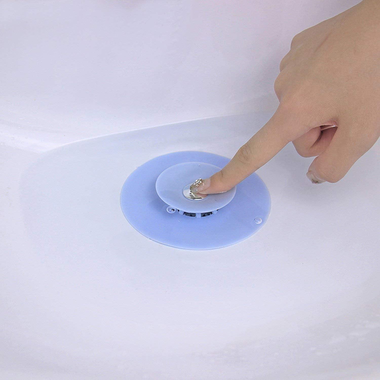 rund Wasserstopfen Abflusssieb Bodenablauf Filter Haare wei/ß Stopfen Waschbeckenst/öpsel Gummi Silikon Zubeh/ör Podazz Silikon-Abflussabdeckung f/ür Badezimmer K/üche