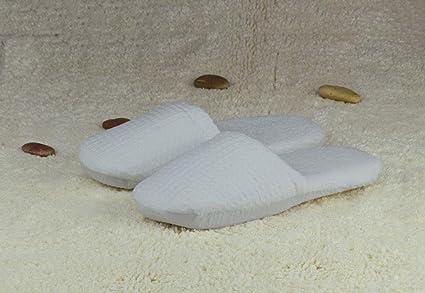 Hotel Slippers Waffle algodón Pantuflas Toalla Fondo Suave ...