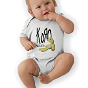 LarryGThatcher Baby Korn Issues Short Sleeve 0-24 Months Infantile Suit 0-3M White