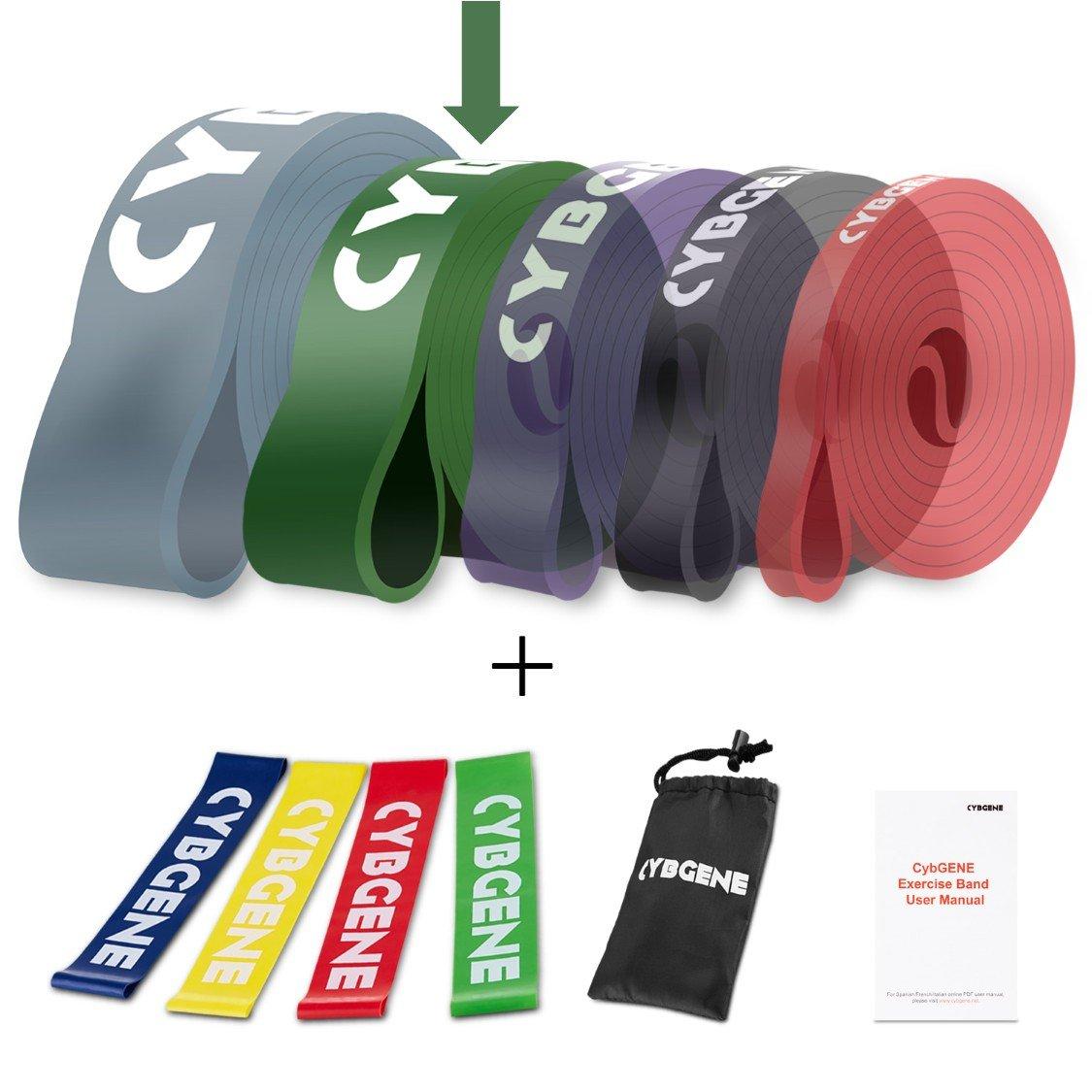 para Pull Banda de Tracci/ón para Fitness y Estiramientos Ups BeMaxx Banda El/ástica de Resistencia Gu/ía de Entrenamiento Vers/átil Yoga Pilates Resistente Crossfit Duradera