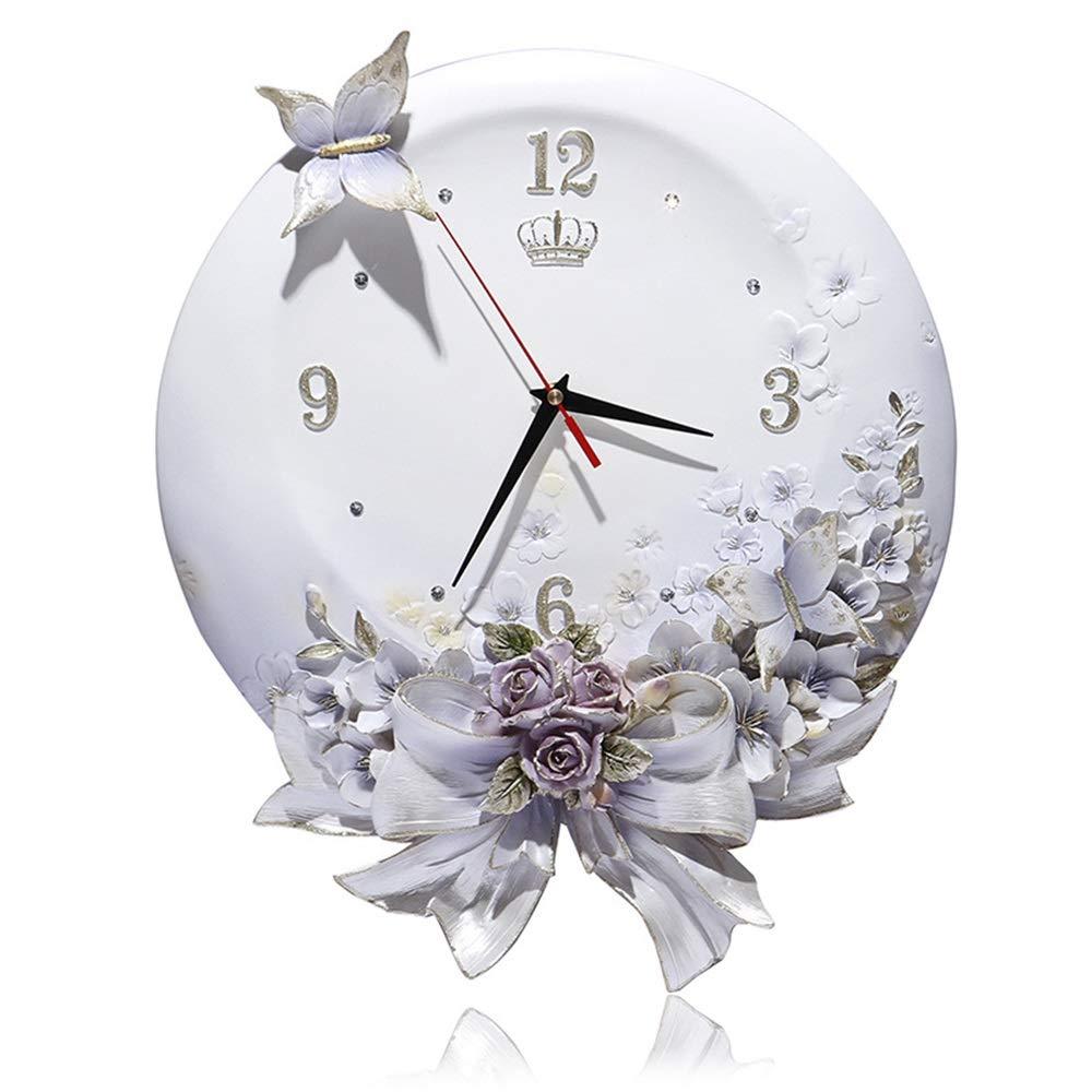 Annie life クリエイティブエンボス時計、ヨーロッパの装飾的な柱時計、ミュート、人格の柱時計ステレオアート時計、新鮮なスタイル (Color : Light purple)   B07R1XB7YV