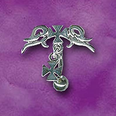 Amazon Com Belly Piercing With Iron Cross Dangle Jewelry