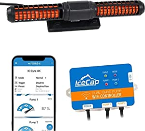 IceCap Powerhead 4K Gyre Pond Pump, Cross Flow Submersible Water Pump for Aquariums, WiFi controllable Water Fountain Pump for Aquarium Pump Flows 1268-4000 Gallons Per Hour, Controls With Free App
