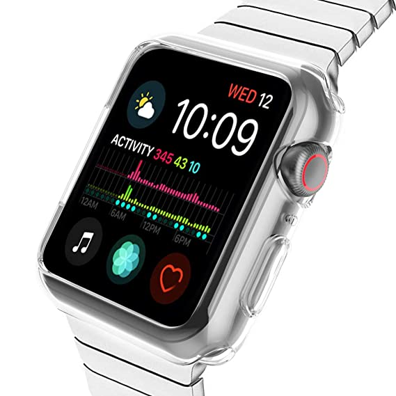hot sale online 2c65f 14a02 Compatible with Apple Watch case Series 4 44mm, YUSHUANG Soft TPU Protector  Clear Bumper Cover Replacement for iWatch Case Series 4.