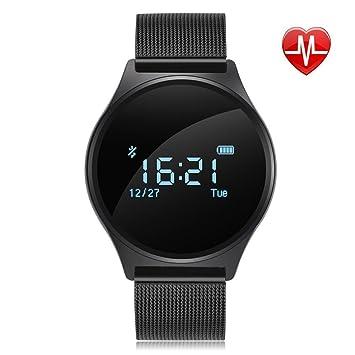 Reloj de pulsera Bluetooth, reloj inteligente M7Medidor de frecuencia cardíaca,