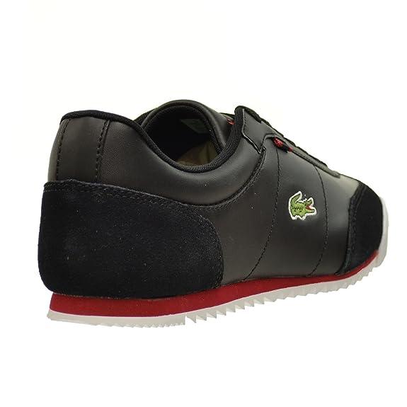 2b78fb369a07a Lacoste Romeau HTB SPM Men s Leather Suede Synthetic Shoes Black Red 7-29spm2031-1b5  (10 D(M) US)  Amazon.ca  Shoes   Handbags