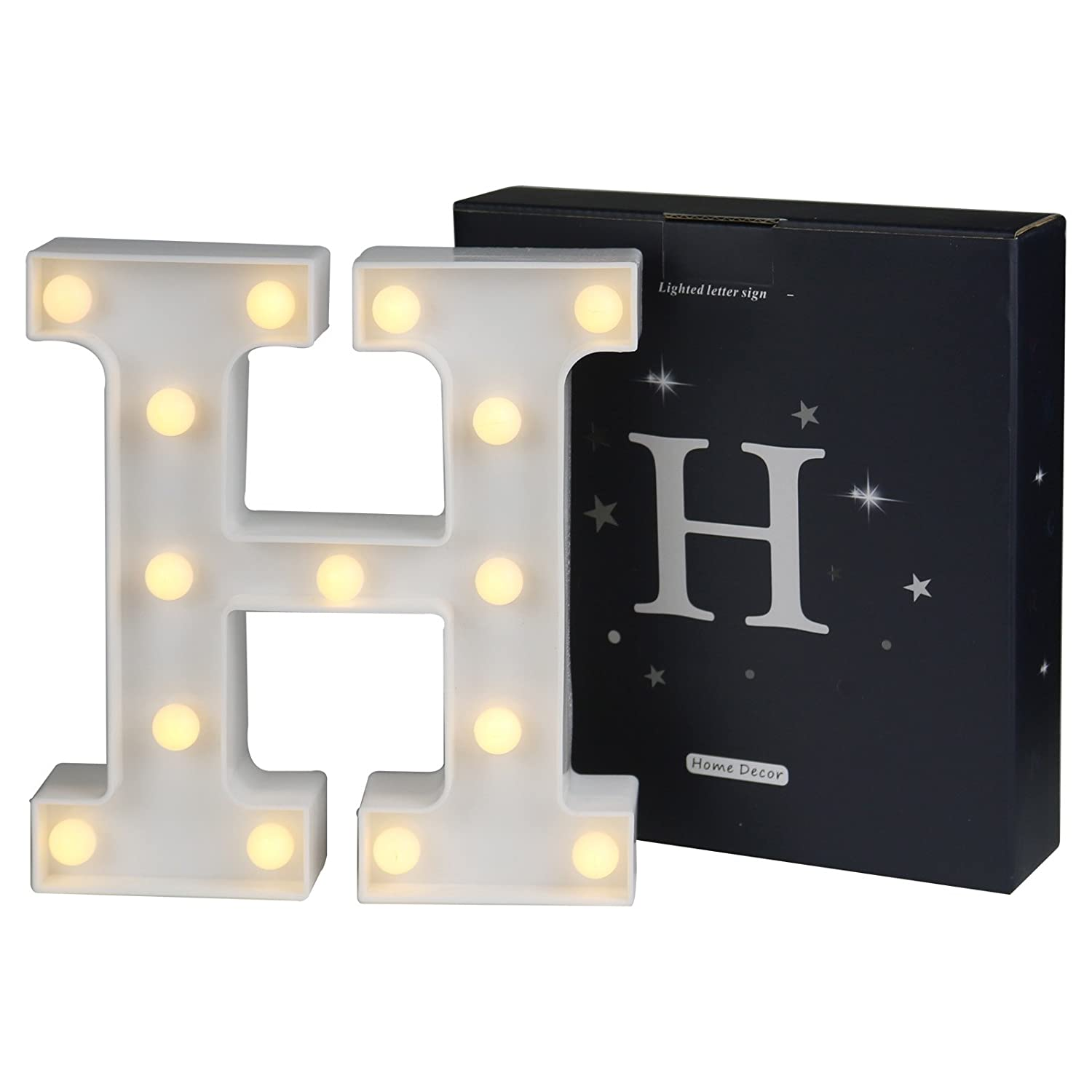 Amazon.com: DELICORE LED Marquee Letter Lights Alphabet Light Up ...