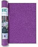 "Best Creation GIO021 Iron On Glitter Roll, Bright Purple, 12""x24"""