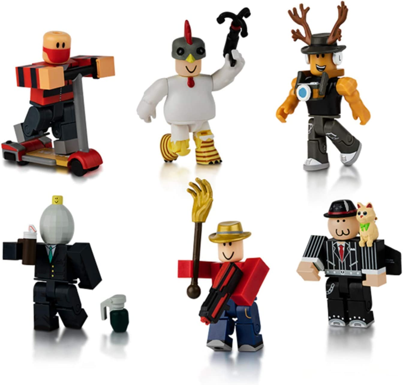 Kids Toys Masters of Roblox Six Figure Pack Mix Match Parts Accessories Toy Set