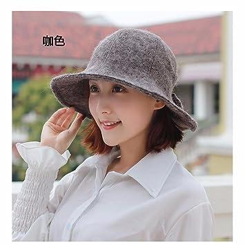 16f7017b65a66 SAIBANGZI Hat Mujer Otoño Invierno Nueva Cúpula Sombrero Bruja Hoja De Loto  Son Delgadas Y Sombrero Gris Y Lindo.  Amazon.es  Hogar