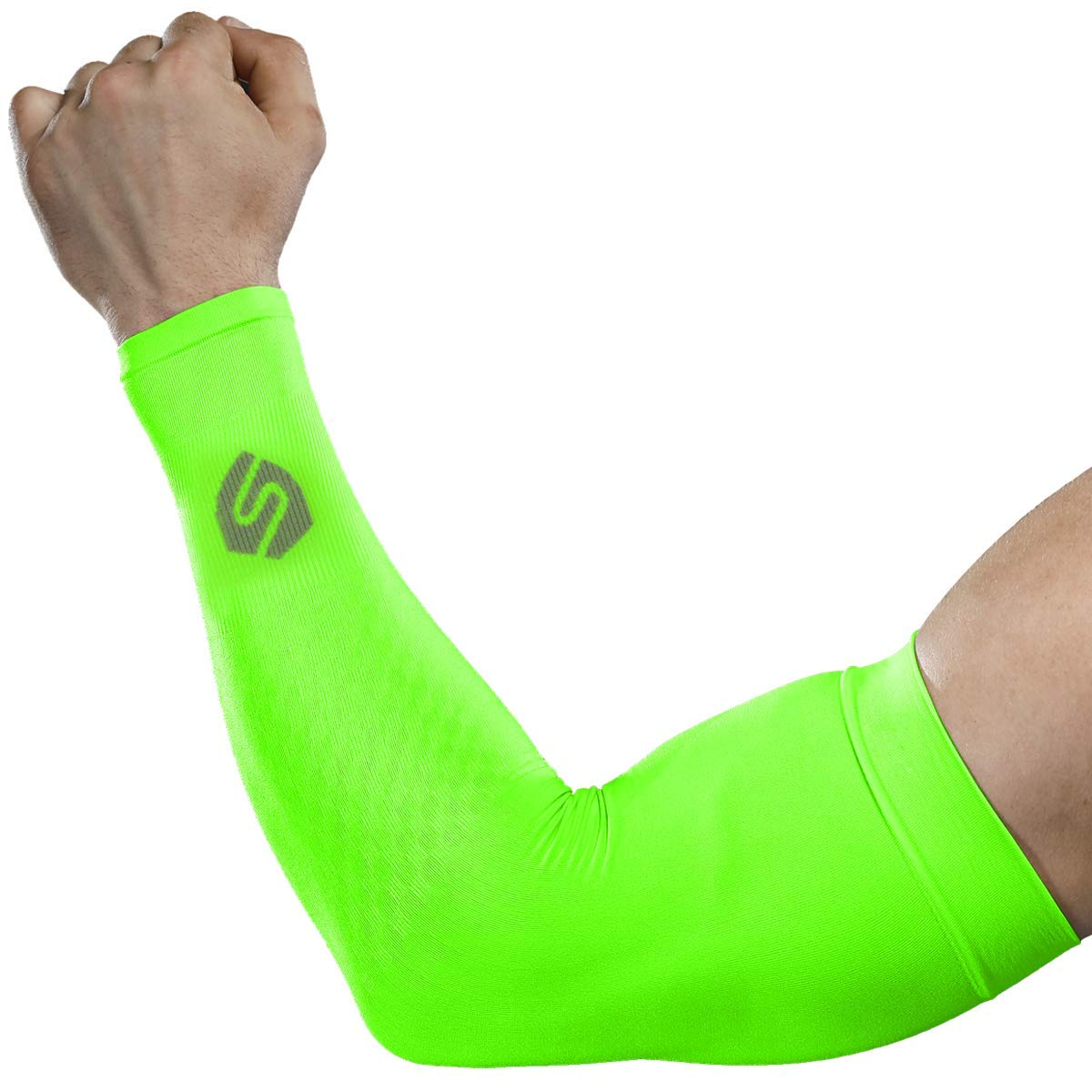 SHINYMOD Cooling Sun Sleeves 2018 Newest Upgraded Version 1 Pair/ 3 Pairs UV Protection Sunblock Arm Tattoo Cover Sleeves Men Women Cycling Driving Golf Running-(1 Pair Neon Green)