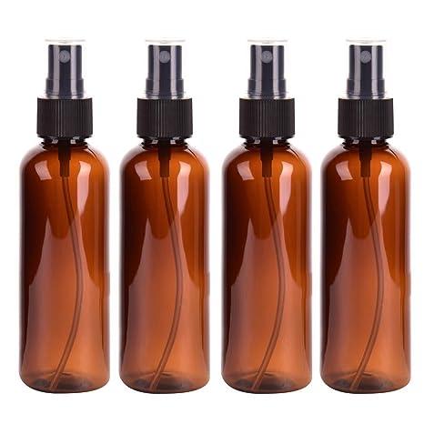 Botella de espray de 100 ml con pulverizador de plástico para cosméticos y botellas de muestra