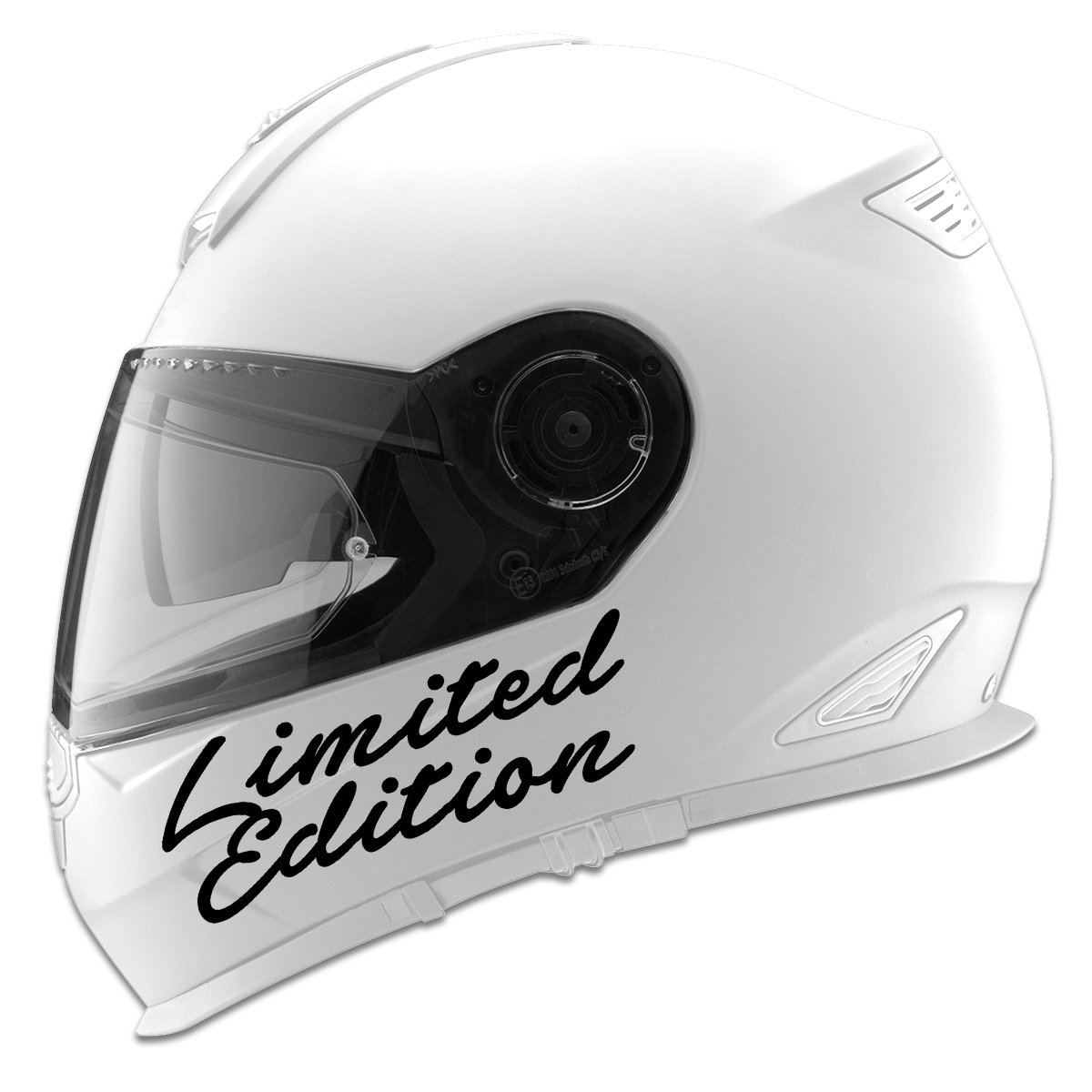 Limited Edition Auto Car Racing Motorcycle Helmet Decal White Decal Serpent 5