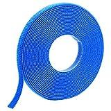 Panduit HLM-15R6 Hook and Loop Miniature Roll Cable Tie, 15-Foot Length, Blue